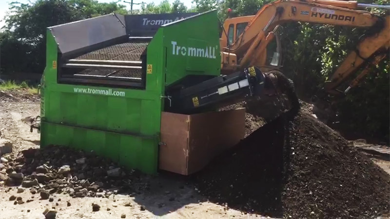 TrommALL on-site material screening